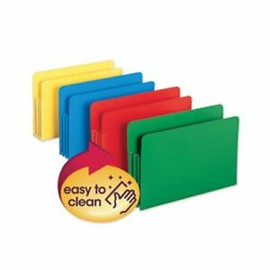 Accordion File Pockets Straight Tab Legal Assorted 4 Folders smd73550