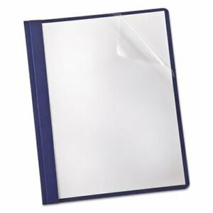 Oxford Paper Cover Tang Clip 1 2 Capacity Clear navy 25 box oxf53343
