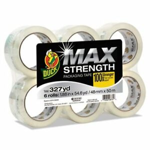 Duck Packaging Tape 3 Core Crystal Clear 6 Rolls duc241513