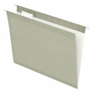 Pendaflex Reinforced Hanging File Folders Letter Gray 25 box pfx415215gra