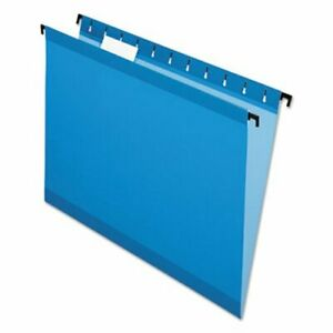 Pendaflex Hanging File Folders Letter 1 5 Cut Blue 20 box pfx615215blu