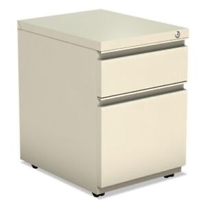 Alera 2 drawer Metal Pedestal File With Full Length Pull Putty alepbbfpy