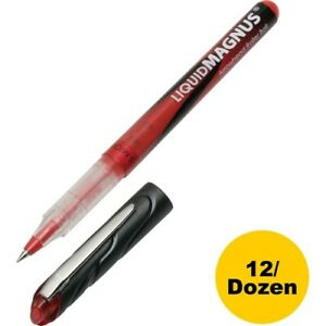 Skilcraft Rollerball Pens 0 5mm Micro Point Red 12 Pens nsn4940908