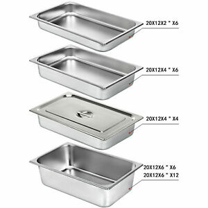 4 6 12 Pack 1 1 Size Stainless Steel Steam Prep Table Hotel Food Pan 2 4 6 Deep