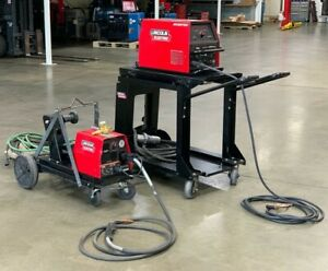 Lincoln Electric Invertec V350 pro Welder Feeder Lf 74 W Carts