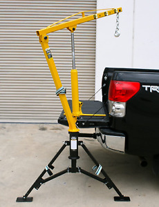 Hitch Mounted Portable Crane Lift Picker Hoist Hydraulic Receiver Pickup Truck
