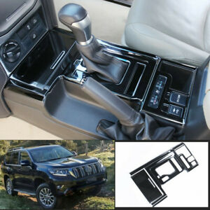 For Toyota Prado 2018 2020 Black Titanium Central Console Gear Shift Panel Trim