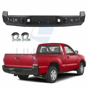 Step Rear Bumper Guard Assembly For Toyota Tacoma 2005 2015 Steel Black