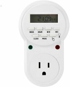 7 Days Programmable Plug in Digital Timer Switch Controllers Smart Socket Plug