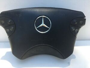 2000 2003 Mercedes W208 Clk55 Clk430 Steering Wheel Horn Leather Cover Amg