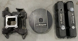 Mopar 440 Black Valve Covers Air Cleaner And Intake