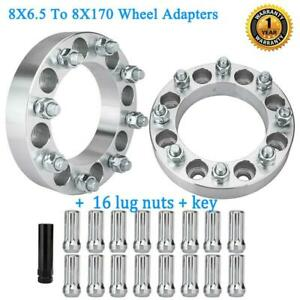 2 8 lug Wheel Spacers 1 5 8x165 1 To 8x170 Adapters 9 16 For Ford F 250 F 350