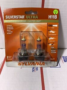Sylvania Silverstar Ultra H11b Halogen Bulbs Dual Pack Of 2 Brand New