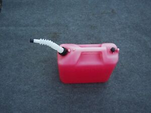 Wedco 5 Gallon Plastic Gas Gasoline Can Vented With Flexible Pour Spout