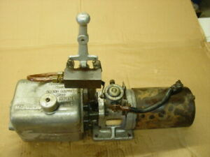 Vintage 12v Dyna Might Unit Hydraulic Plow Pump Monarch Hep41025 Up And Down