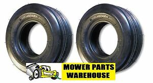 2 NEW 11x4.00x5 11x4.00 5 11 4.00 5 STRAIGHT RIBBED 4 PLY TIRES REPLACE CARLISLE $39.95