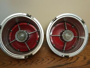 Vintage 1963 Ford Fairlane Tail Lights Set All Original