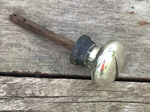 Antique Single Mercury Glass Door Knob Round Small 2
