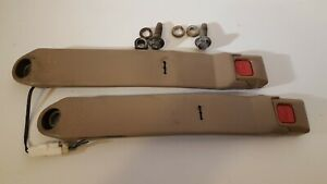 1989 95 Toyota Pickup 4runner Front Seat Belt Buckles Snaps Receivers Tan Lf rh