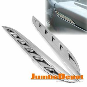 Chrome Air Side Hood Vent Trim Grid Vent Outlet For Suzuki Grand Vitara 07 13