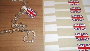 Union Jack Jewellery Price Stickers 10 X 54mm Tags Labels Dumbells Jewelry