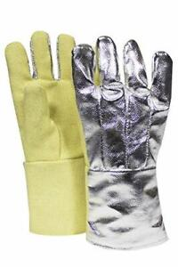 National Safety Apparel G51tcnl14 Thermobest Glove With Back Large Aluminized