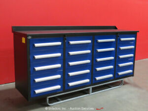 Steelman 20 drawer 7ft Steel Work Bench Tool Cabinet Shop Box Bidadoo new