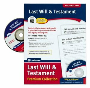 Last Will And Testament Forms Paper W Cd Kit Program For Single Married Office