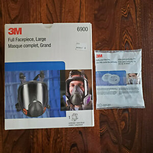 3m 6900 Full Facepiece Reusable Respirator Large With 3m 2071 Filters Usa