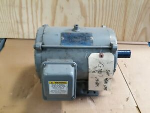 Teco 5hp 3 Phase Electric Motor Dt0054 230 460v 1740 Rpm 1 1 8 Shaft S39