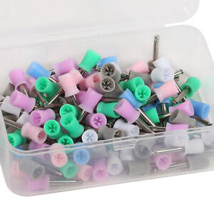 Dental Mixed Tooth Polishing Polish Prophy Cups Latch Type Polisher Rubber Color