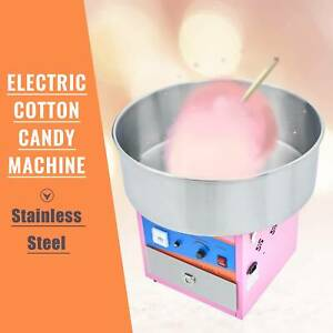 Commercial Cotton Candy Machine Sugar Floss Maker Ss Party Carnival Electric