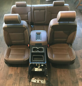 14 18 Silverado 1500 High Country Seats Brown Leather Front And Rear Set Sierra