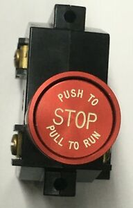 Otis Elevator Push Pull Emergency Stop Switch With Collar New Old Stock