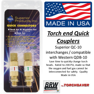 Cutting Torch Brazing Torch Oxygen And Fuel Gas Quick Couplers Torch End Qc10