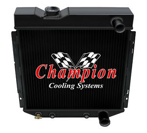 3 Row Sz Champion Black Finish Radiator For 1964 65 1966 Ford Mustang V8 Engine