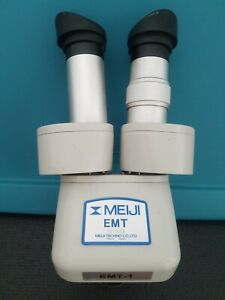 Meiji Emt Microscope W 5 10x Magnification Led Ring Light And Euro Arm Included