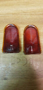 Original 1949 1950 Chevy Tail Light Lens Red Glass Vintage