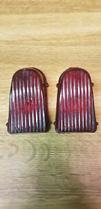 Original 1949 1950 Chevy Tail Light Lens Red Plastic Vintage
