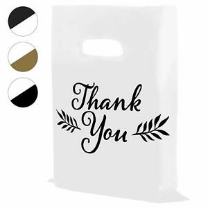 Houseables Thank You Merchandise Bags Plastic 16 X 18 100pk 1 75 Mil Thick