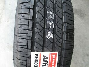 4 New 215 60r17 Firestone Affinity Touring T4 Tires 60 17 2156017 60r R17