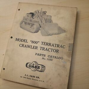 Case 800 Terratrac Tractor Bulldozer Crawler Loader Spare Parts Manual Front End