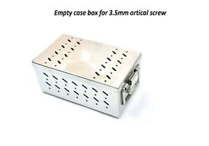 Orthopedic Empty Case Box For 3 5mm Cortical Screw Sterilization Box Stainless