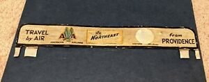 Rare Old Tin Travel By Air From Providence License Plate Topper Aviation Plane