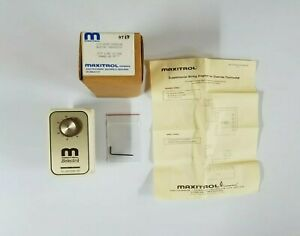 Maxitrol Selectra Room Override Thermostat Model T115 Spst Line Voltage