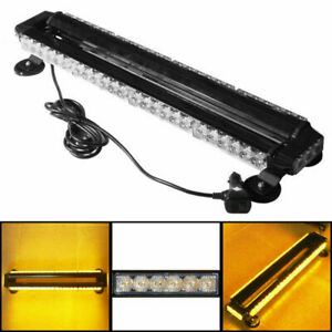 Amber 54 Led Traffic Advisor Double Side Roof Emergency Flash Strobe Light Bar
