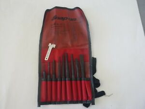 Snap On 10 Pc Punch And Chisel Set In Kit Bag Ppc710bk Missing One