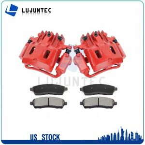 Rear Brake Calipers Ceramic Pads For 2000 2001 2002 2004 Ford F 250 Super Duty
