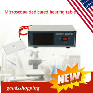Microscope Temperature Control Stage Slide Warmer Plate Lab Warming Tool