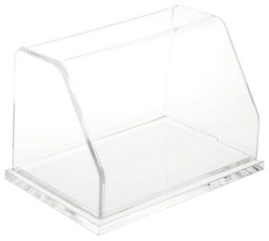 Plymor Clear Acrylic Slanted Front Display Case With Base 6 W X 4 D X 4 H